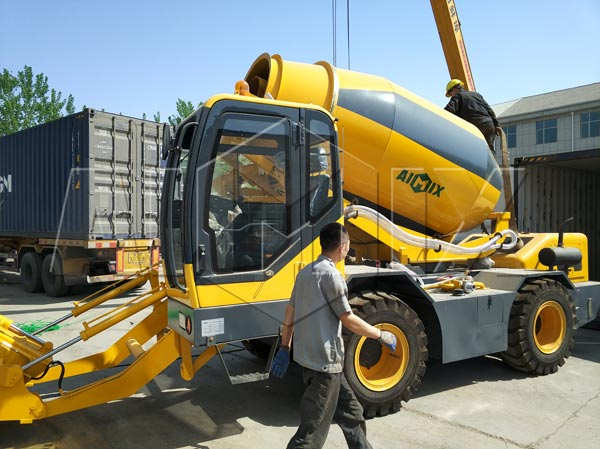 self load concrete mixer truck