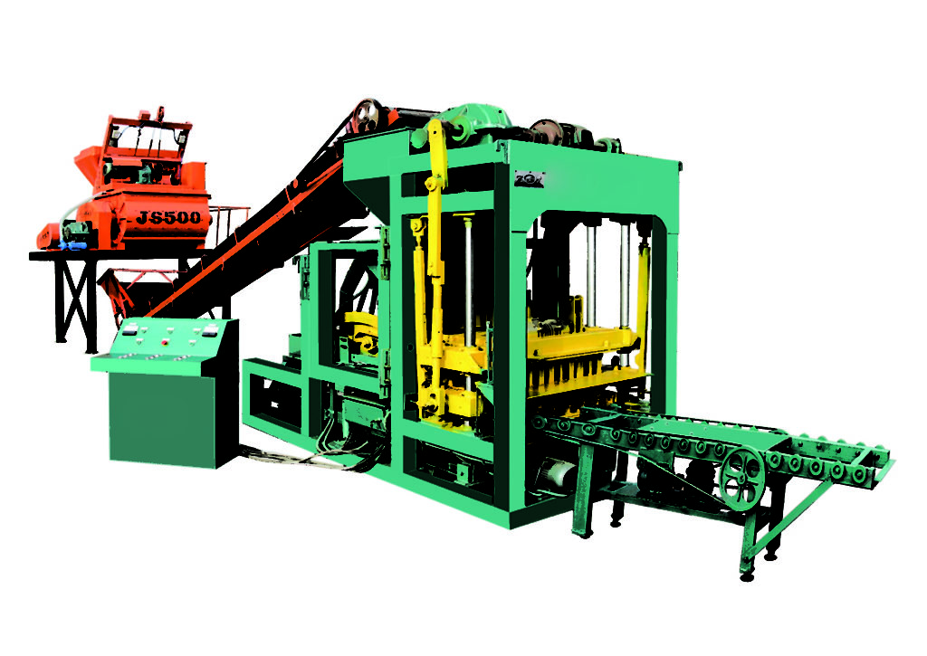 QTJ4-25 interlocking tile machine