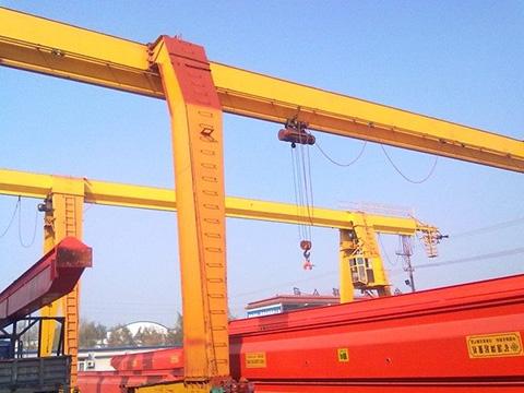 single girder rail mounted gantry crane for sale